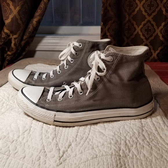 CONVERSE gray high top sneakers
